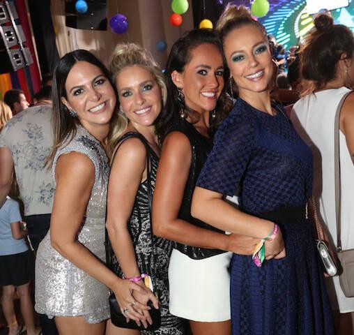 Carol Sampaio, Monique Alfradique, Francisca Pereira e Paola Oliveira