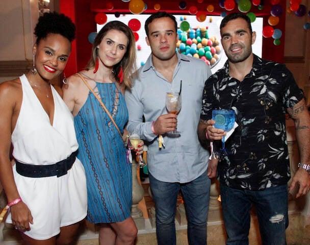 Xico Salgado, Cintia Rosa, Tatiana e Daniel Blumeneng