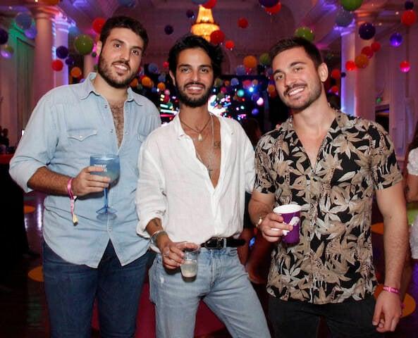 Pedro Campos, André Nicolau e Luan Poffo