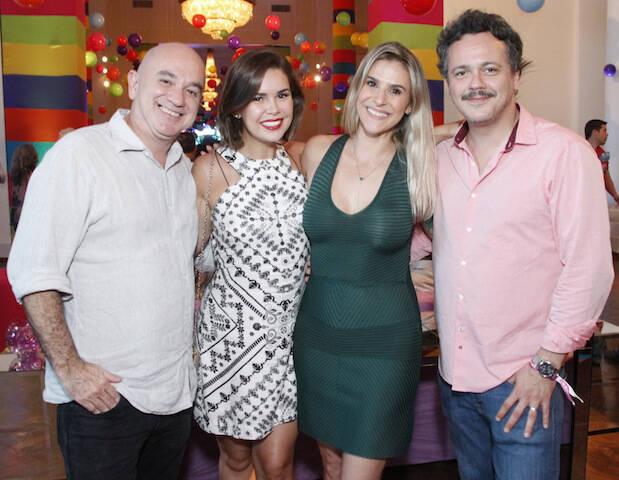 Danton Mello, Sheila Ramos, Marcelo Lobato e Amanda Rodrigues