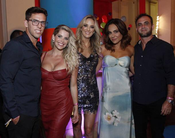 Renato Jordão, Cássia Linhares, Karina Baccii, Amauri e Ticiane Pinheiro
