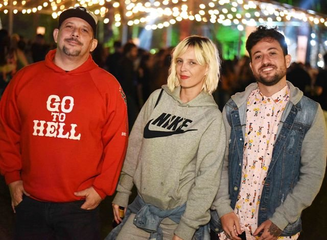 Os DJs Saddam, Nicole Nandes e Tucho