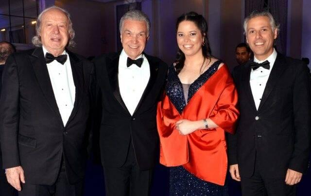 Farid Hakme, Volney e Paula Pitombo com Marcelo Araújo