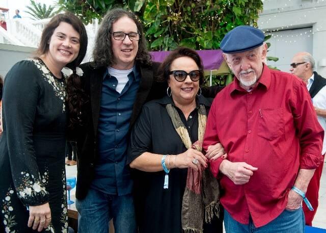 Ana Paula Pedro, Geraldo Carneiro, Célia Pierantoni e Jaguar