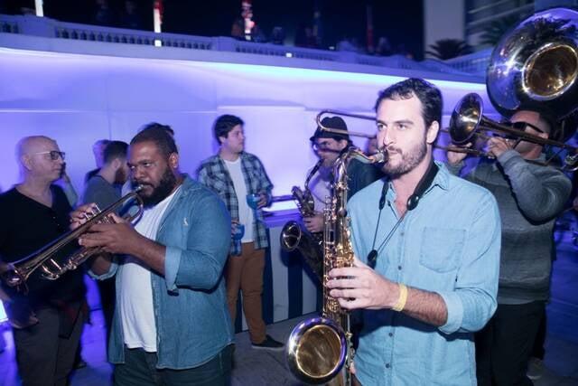 A banda que animou a festa