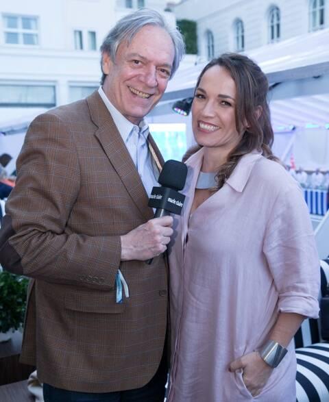 Chico Caruso com a filha, a jornalista Marina Caruso