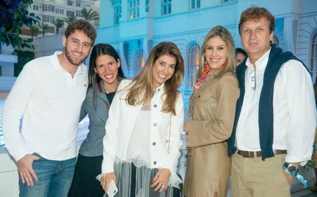 Felipe Guendler, Débora Guendler, Gorete Colaço, Eugenia Guerrera e Leonardo Hargreaves