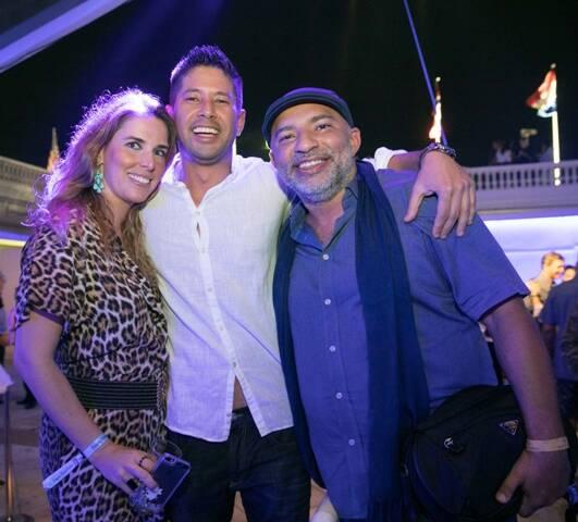 Manoela Gentil, Kazuo Hamada e DJ Papagaio