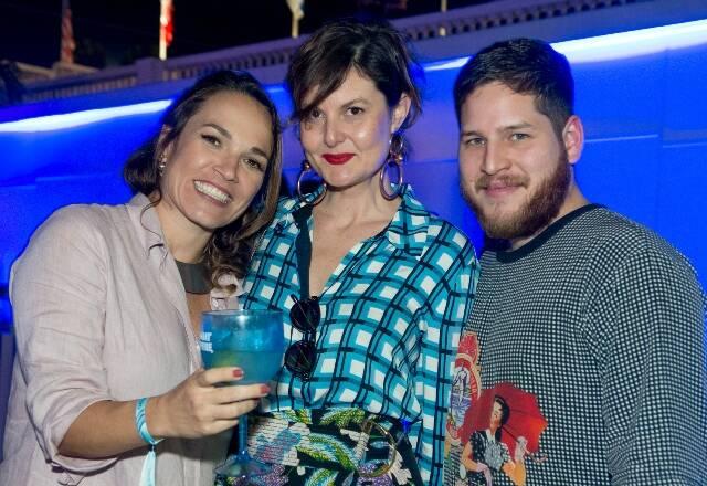 Marina Caruso, Larissa Lucchese e André Puertas