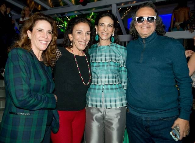 Mercedes de Orleans e Bragança, Alicinha Silveira, Cristiana Neves da Rocha e Zé Ronaldo Muller