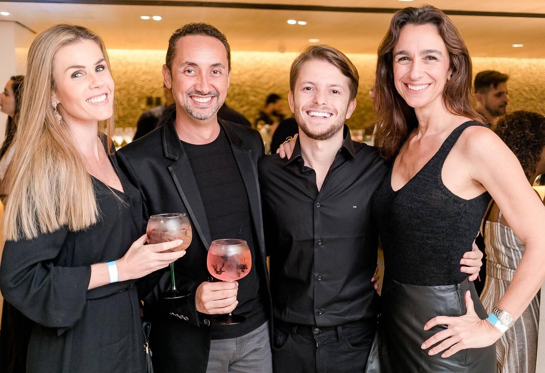 Juliana Neves de Castro, Emerson Araujo, Victor Niskier e Mabel Graham /Foto: Miguel Sá
