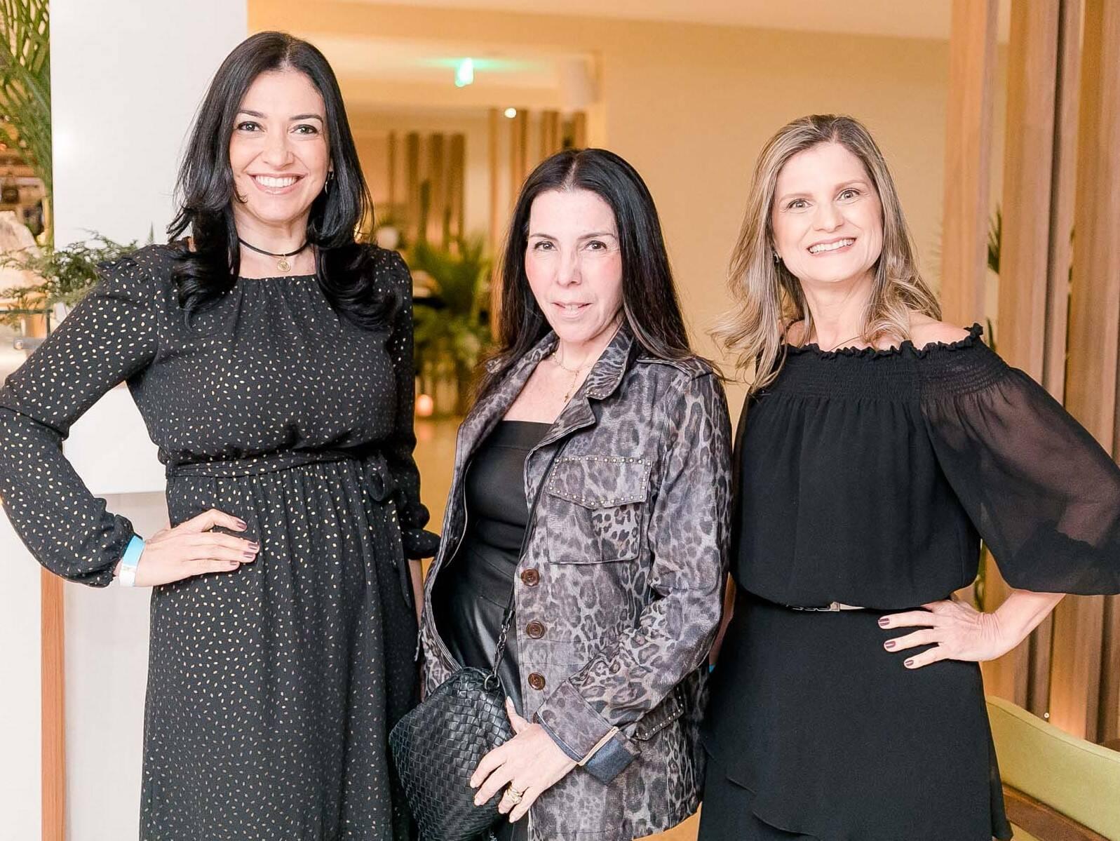 Cristina Côrtes, Paola Ribeiro e Claudia Sant' anna  /Foto: Miguel Sá