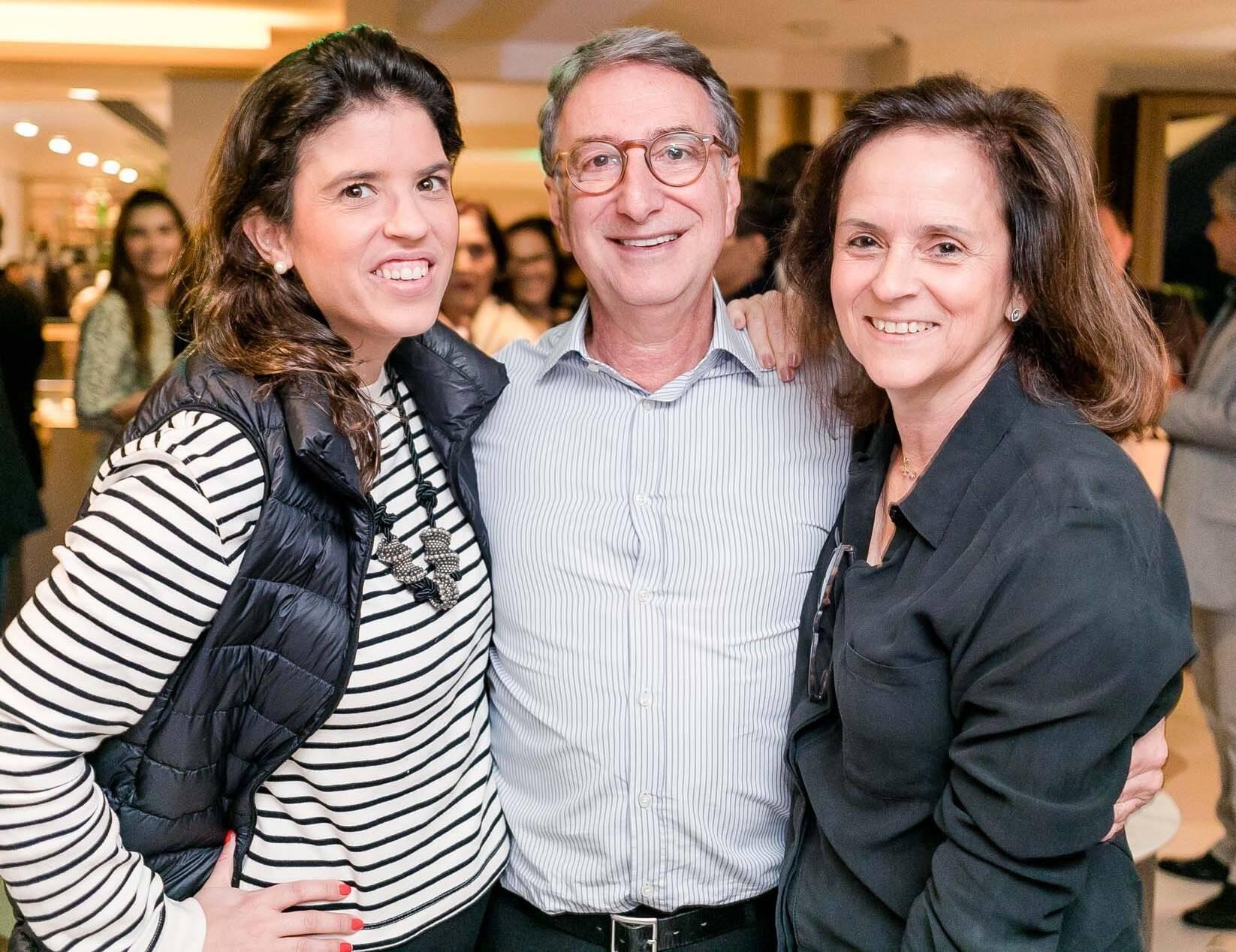 Fernanda Quentel, Salomão Crosman e Patricia Quentel /Foto: Miguel Sá