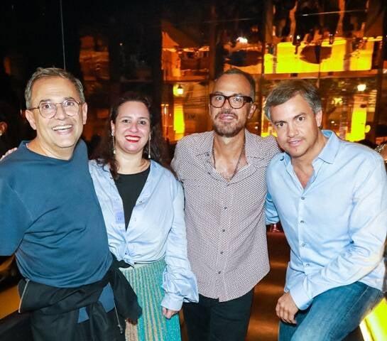 Paulo Borges, Silvia Rogar, Marcos Campos e Christian Blanco