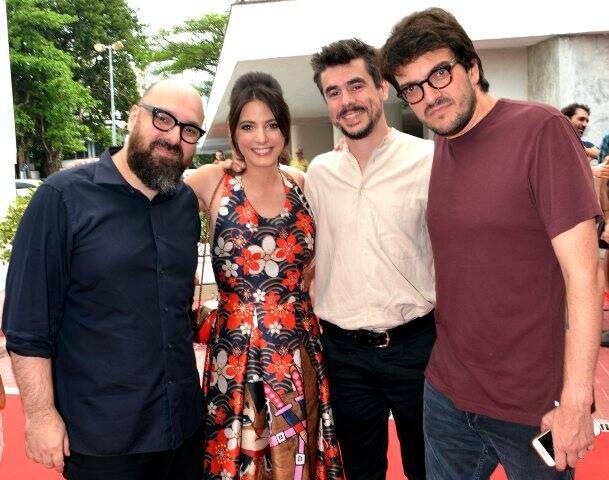 Felipe Hirsch, Carla Quevedo, Javier Drolas e Rodrigo Teixeira