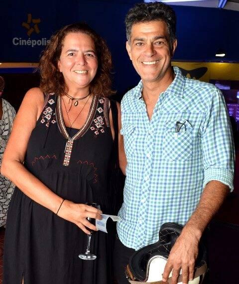 Luciana Oliveira e Eduardo Moscóvis