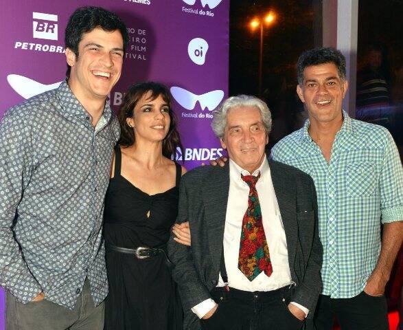Mateus Solano, Maria Ribeiro, Domingos de Oliveira e Eduardo Moscóvis