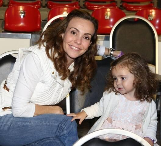 Flavia Monteiro com a filha, Sophia