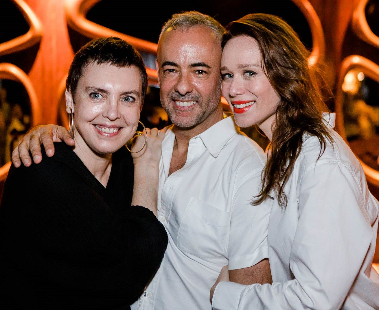 Adriana Calcanhotto, Francisco Costa e Mariana Ximenes /Foto: Bruno Ryfer