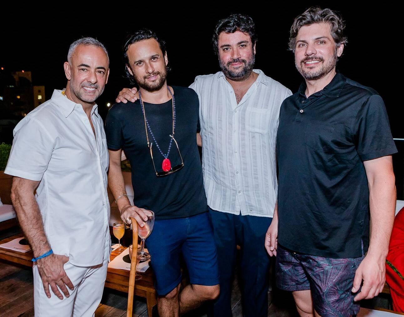Francisco Costa, Tiago Geissler, George Sotelo e David Favale  /Foto: Bruno Ryfer