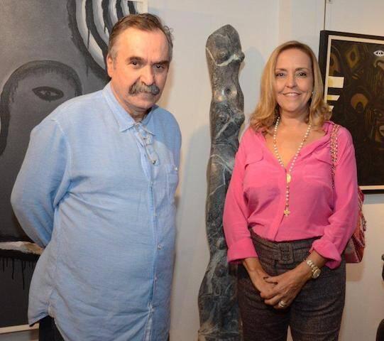 Luiz Fernando e Denise Dannemann