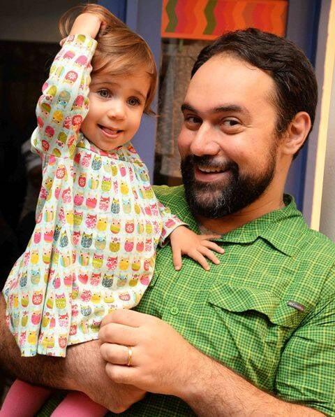 Ricardo Bacellar e a filha Marina