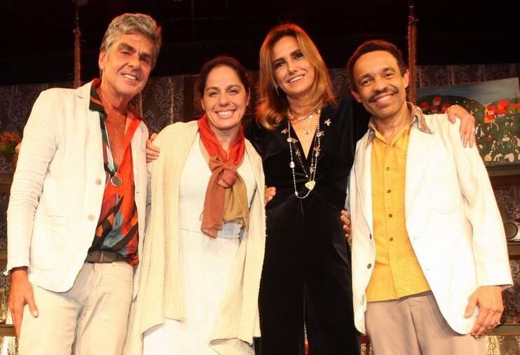 Manoel Thomaz Carneiro, Claudia Mauro, Georgia Buffara e Édio Nunes /Foto: Vera Donato