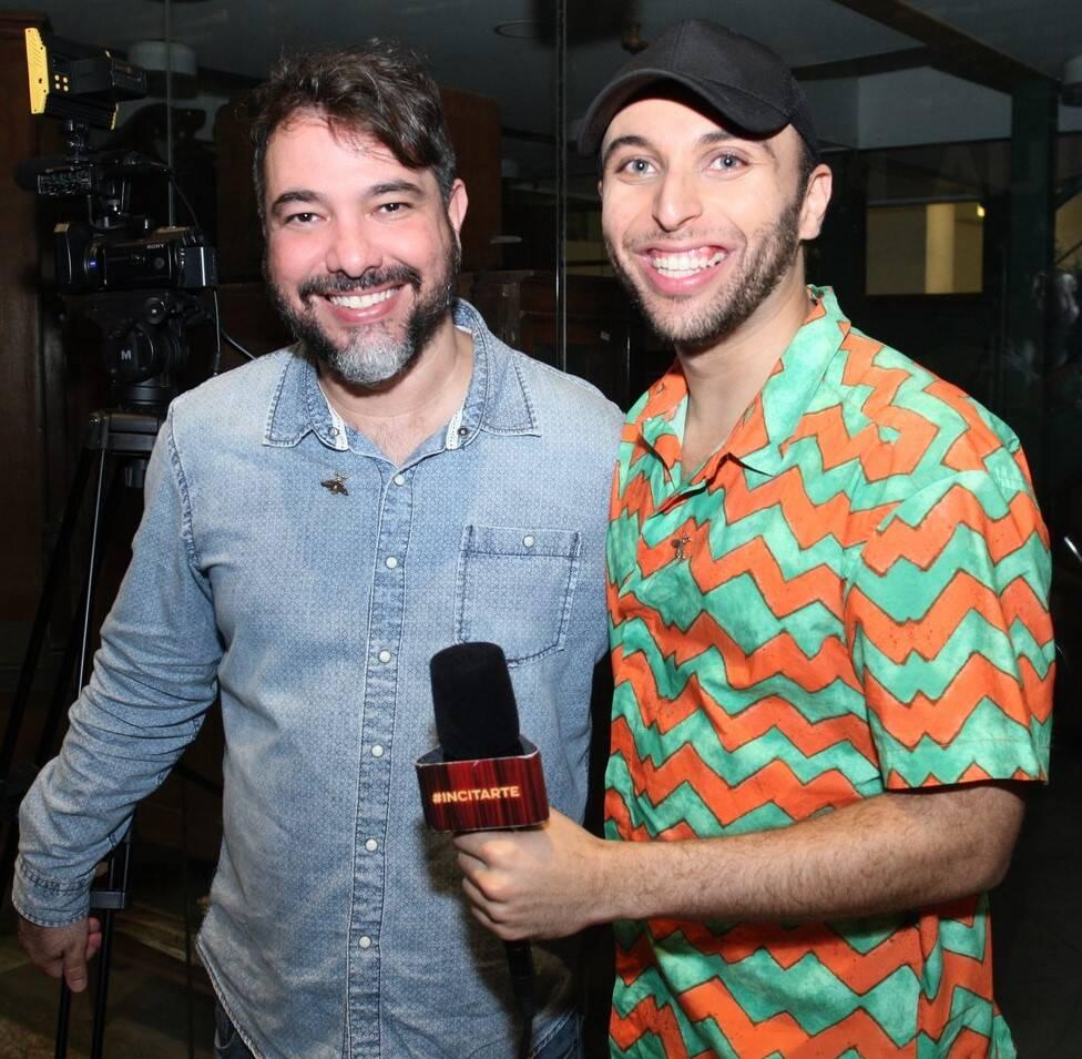 Paulo Fernando Góes e Tauã Delmiro /Foto: Vera Donato