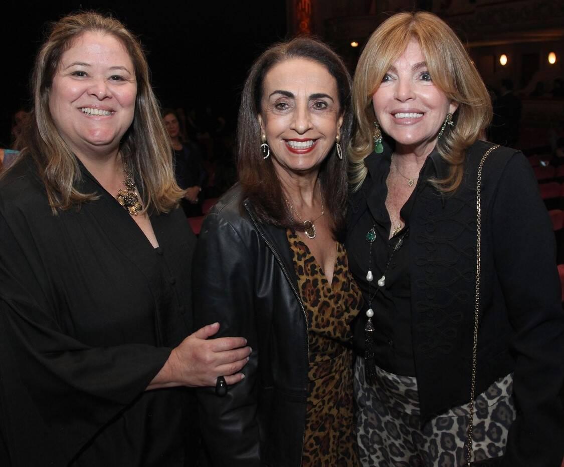 Suzana Portela, Tania Carvalho e Sonia Simonsen /Foto: Vera Donato