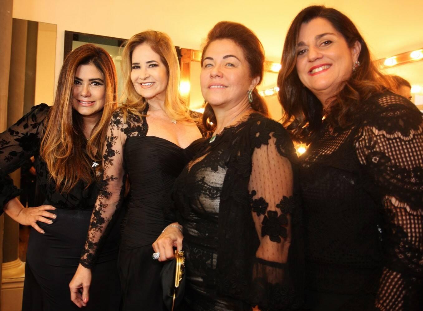 Ana Lucia Santana, Gisela Markenson, Marta Isaksen e Maritza de Orleans e Bragança /Foto: Vera Donato
