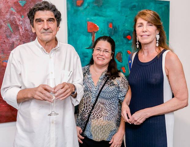 George Iso, Andrea Alencar e Regina Fonseca