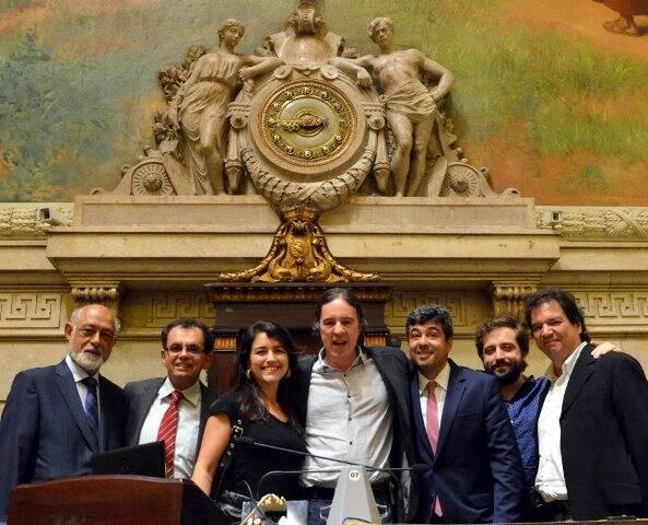 Domício Proença, Reimont Otoni, Manuela Dias, Geraldinho Carneiro, José Fernando Aparecido de Oliveira, Gregório Duvivier e Luiz Alberto Oliveira