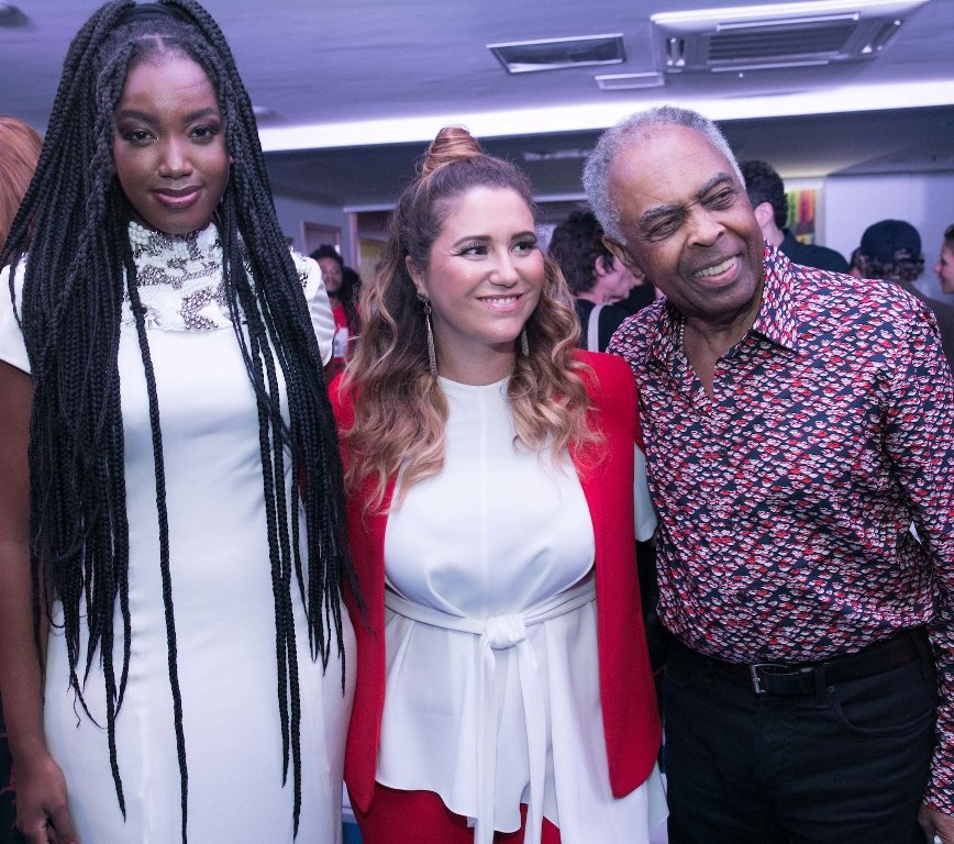 Iza, Maria Rita e Gilberto Gil