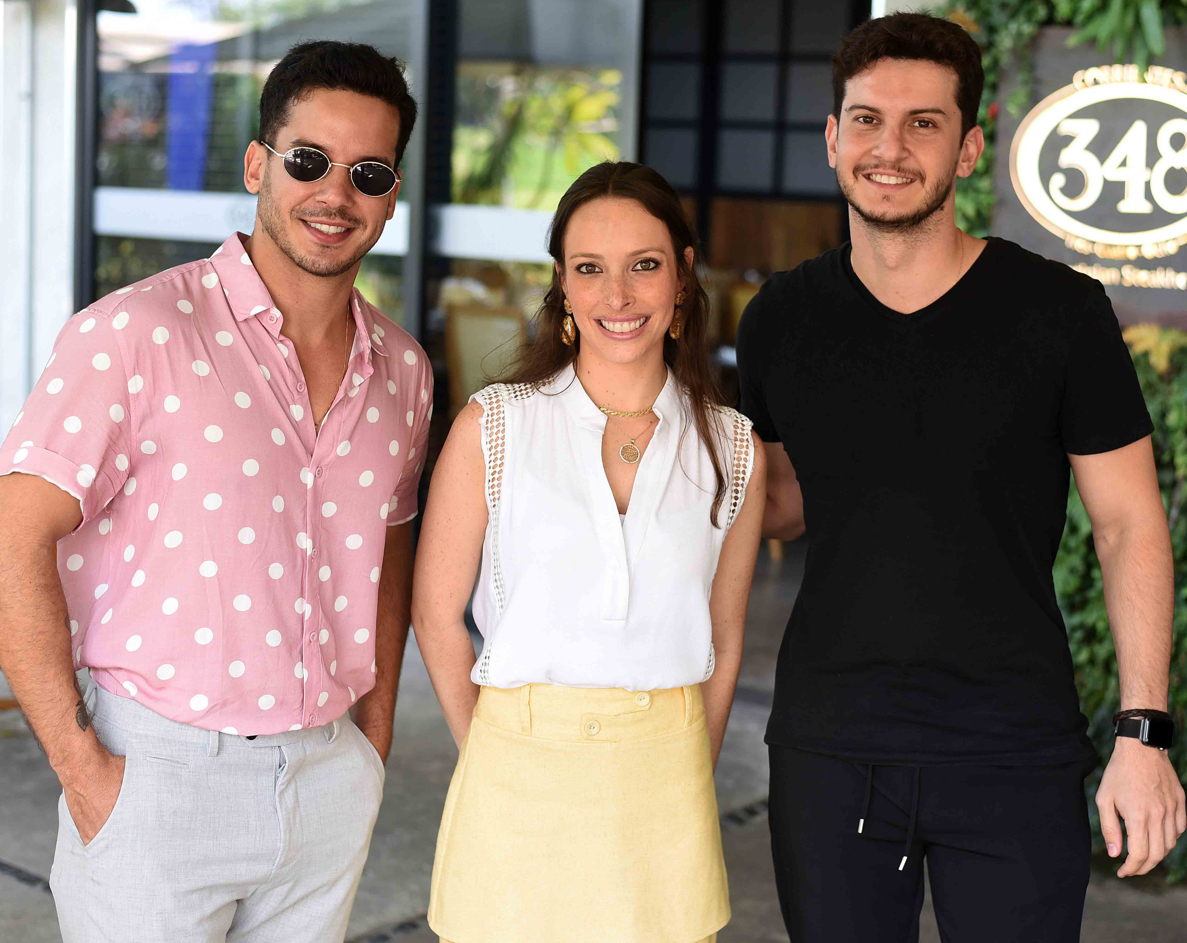 Carlos Carvalho, Giselle Rivkind e Caio Carvalho /Foto: Ari Kaye