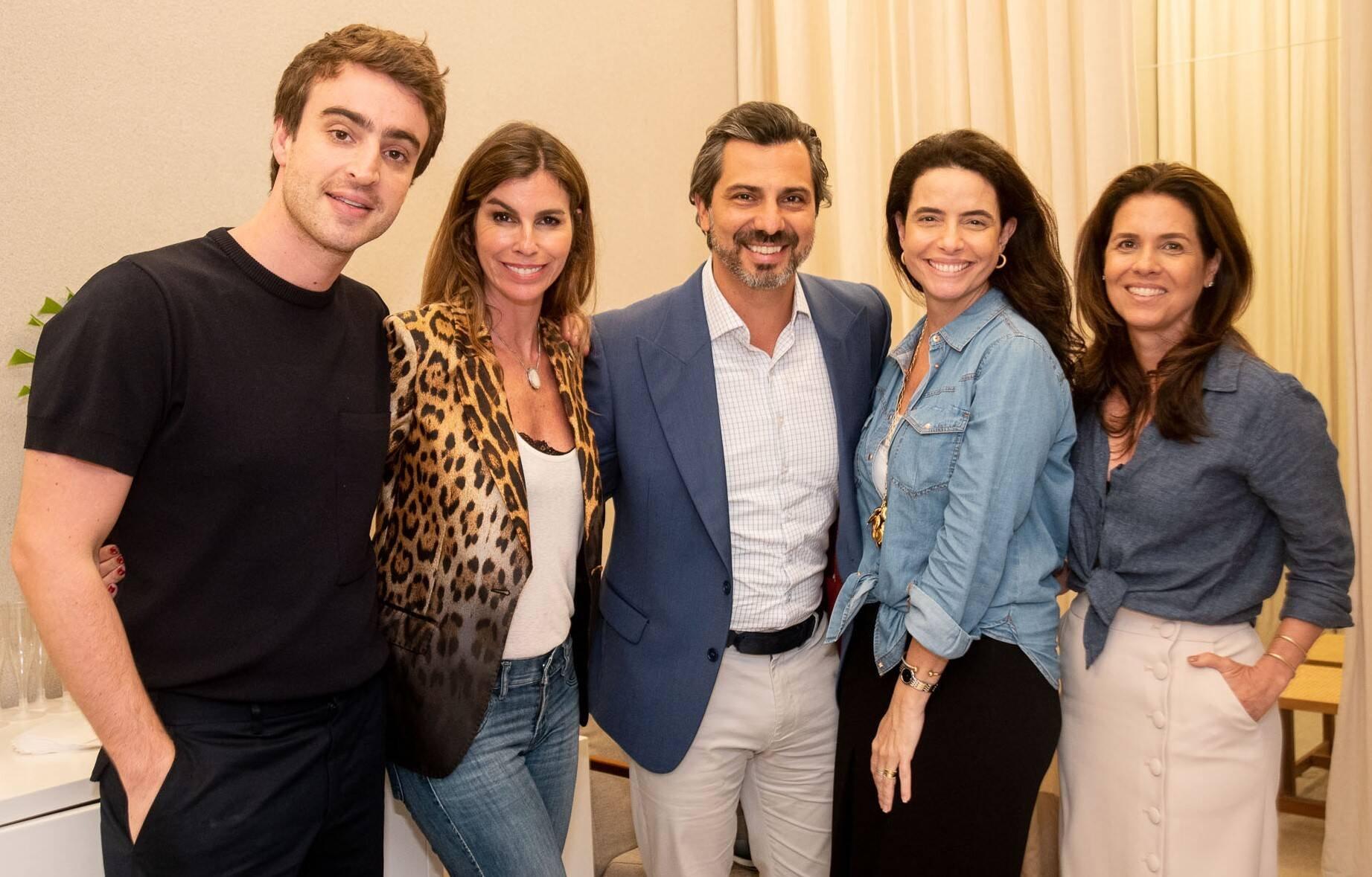 Eduardo Toldi, Chris Pitanguy, Rodrigo Lovatti, Adriana Souza e Angela Hall /Foto: Renato Wrobel