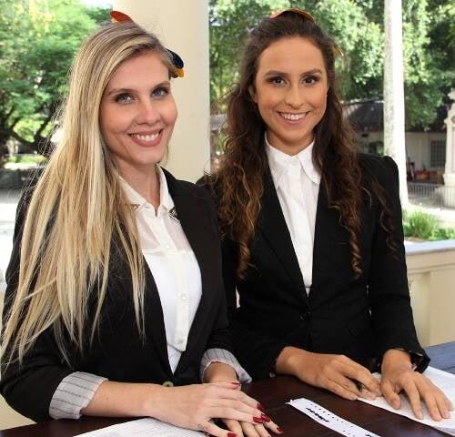 Ana Carolin Chasco e Bárbara Sampaio