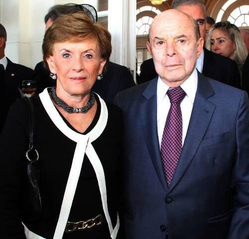 O governador Francisco Dornelles com a sua Cecília