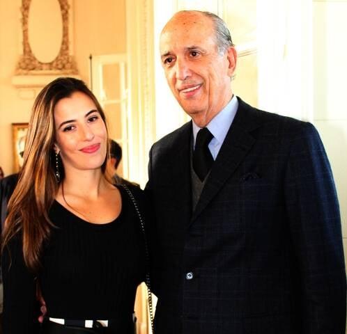Elisa Taunay com o pai, Luiz Alfredo Taunay, presidente do Jockey