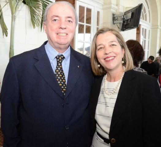 O secretário de Turismo Nilo Sérgio e Adriana Novis