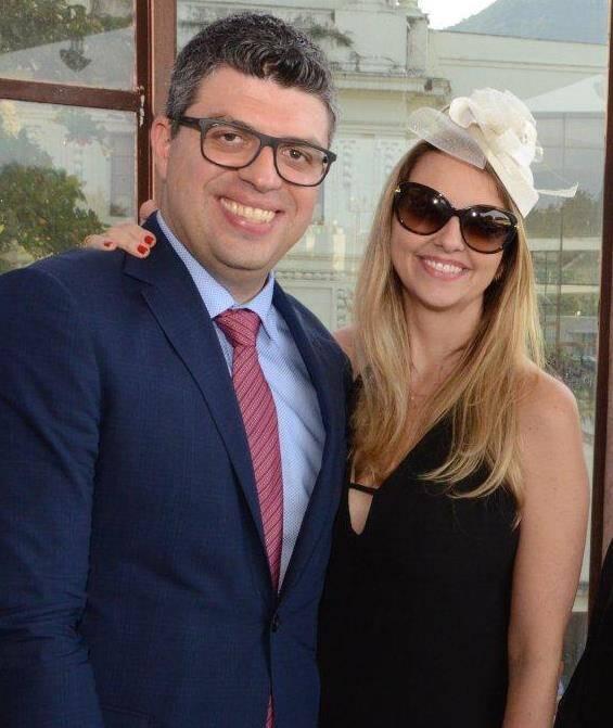O casal Ana Paula e Eduardo Schuch