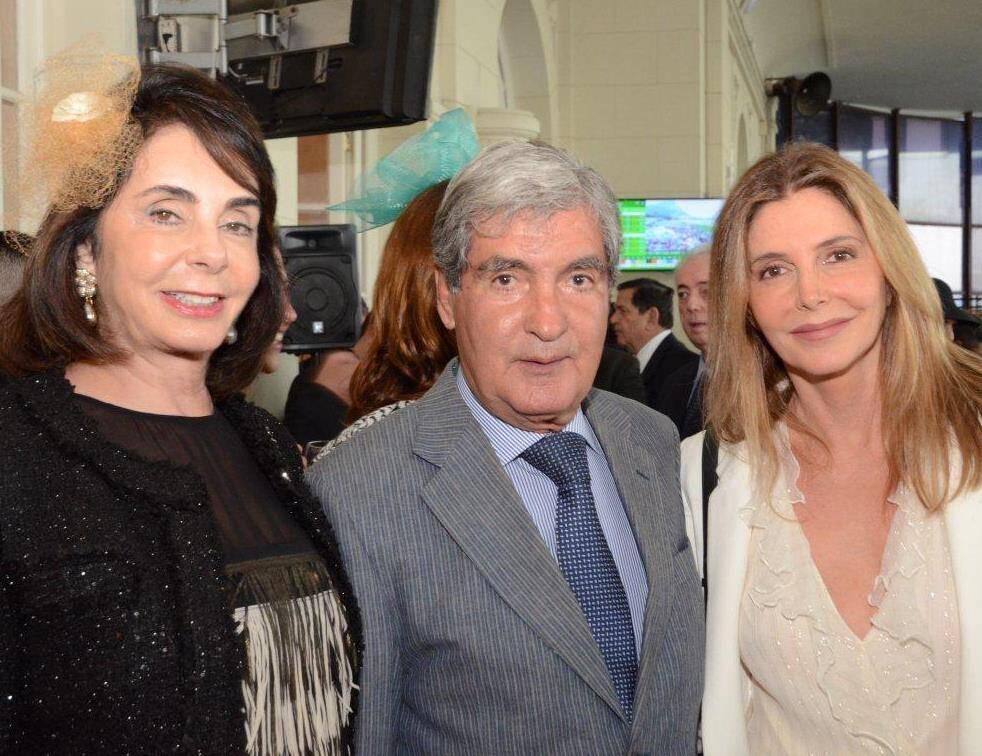 Inês e Sérgio Costa e Silva com Maria Padilha