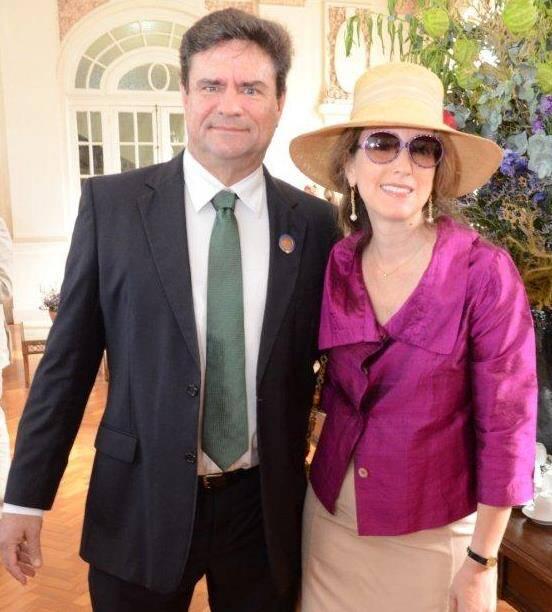 O casal Letícia e Roberto Hirth