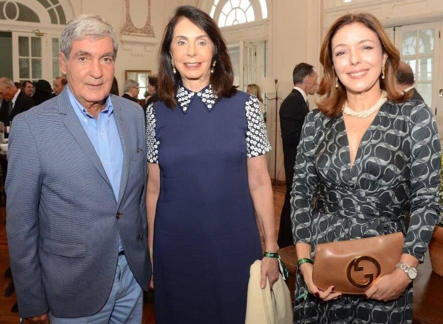 Sérgio e Ignez da Costa e Silva e Marita Graça Bitttencourt  /Foto: Marco Rodrigues
