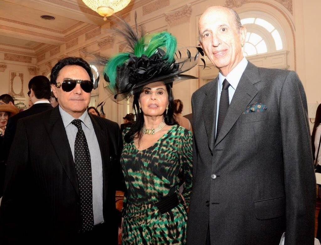 José e Marineida Basano com Luiz Alfredo Taunay  /Foto: Marco Rodrigues
