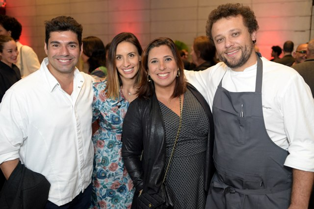 Felipe Bronze, Cecília Aldaz, Maria Vargas e Thomas Troisgros