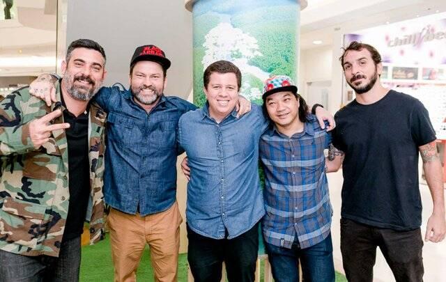 BR (Bruno Bogossian), Toz, Celso Barbosa, Tinho e Mateu Velasco