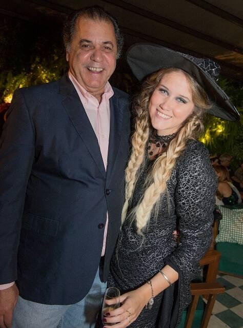 Omar Catito Peres com a filha, Duda