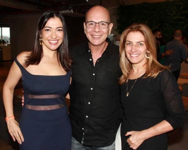 Cristina Cortes, Caco Borges e Ana Carmem Alvarenga