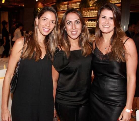 Juliana Varga, Andressa Fonseca e Raquel Stelman