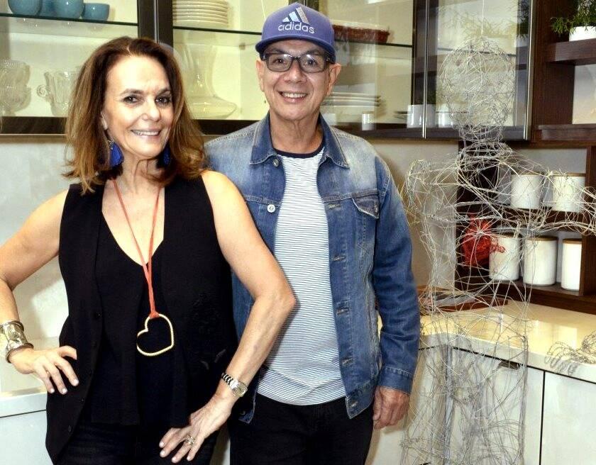 Patricia Secco, Caco Borges e Tuninho, a estrela do evento